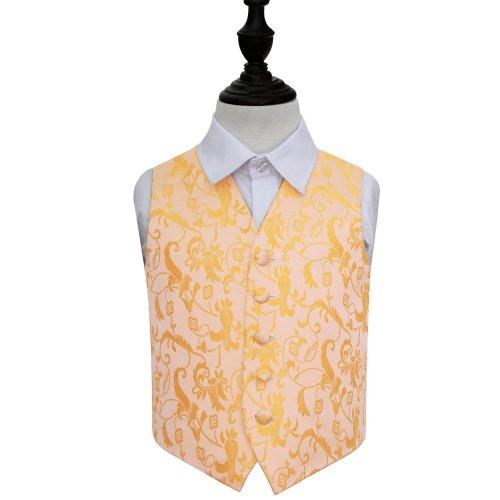 Gold Floral Wedding Waistcoat for Boys 26'