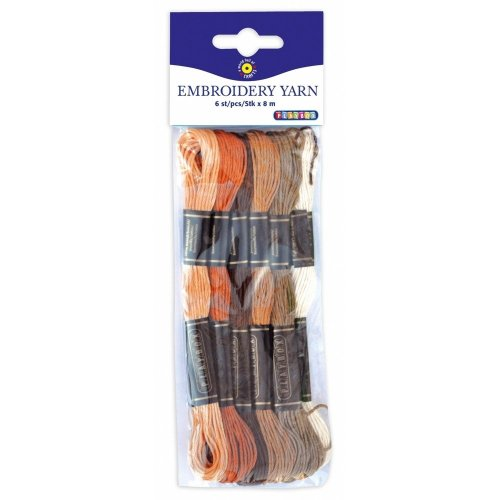 Pbx2470997 - Playbox - Embroidery Yarn (browns) - 8 Mtrs - 6 Pcs