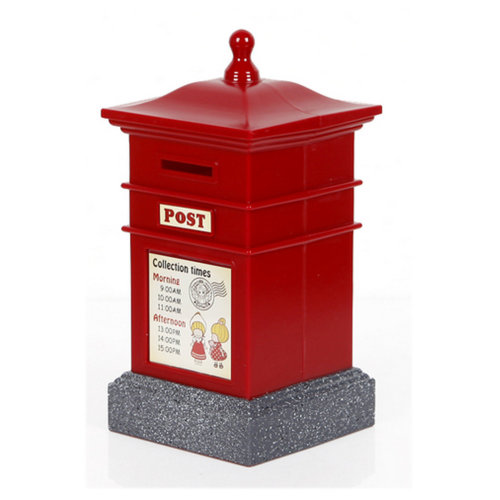 Creative Mailbox Cute Piggy Bank For Saving Money Coin Bank Square Red