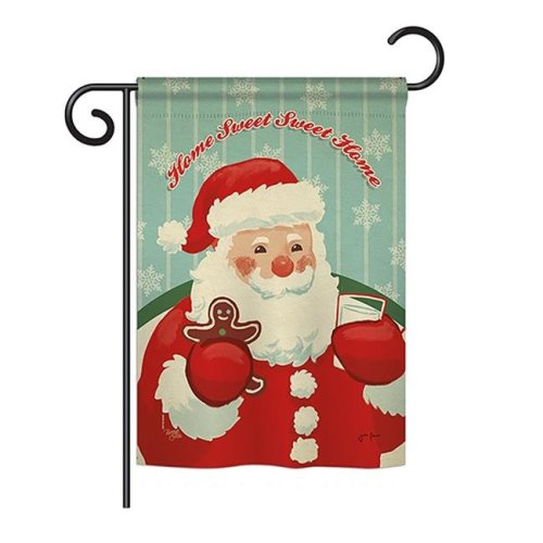 Breeze Decor BD-XM-G-114200-IP-BO-DS02-US Sweet Home Santa Winter - Seasonal Christmas Impressions Decorative Vertical Garden Flag - 13 x 18.5 in.