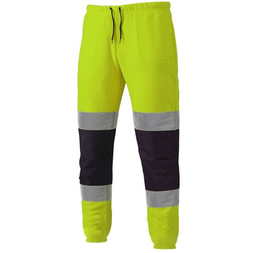 Dickies Two Tone Hi-Vis Jogger Pants Yellow & Navy (All Sizes) Jogging Bottoms