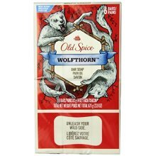Old Spice Wild Collection Wolfthorn Mens Bar Soap 6 Count (2 PACK)