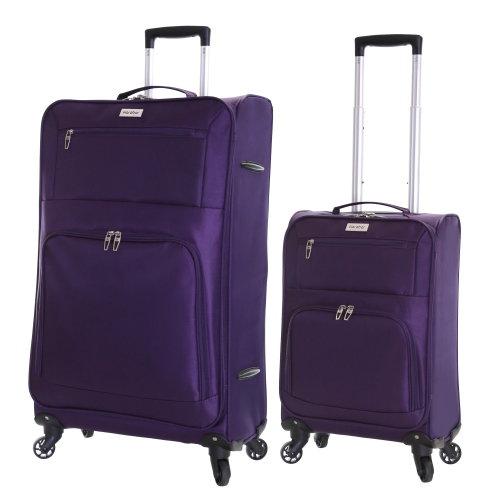 Karabar Lecce Set of 2 Lightweight Suitcases, Plum