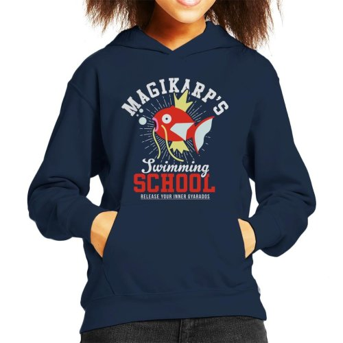 Magikarps Swimming School Pokemon Kid's Hooded Sweatshirt
