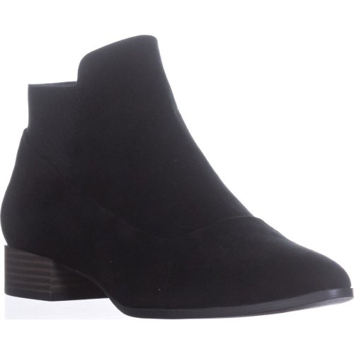 DKNY Trent Pointed-Toe Pull-On Boots, Black, 3.5 UK