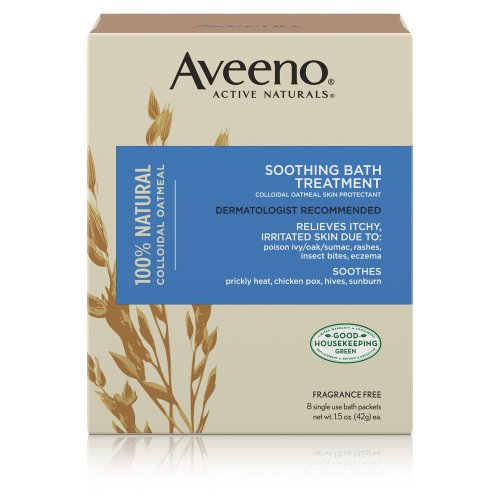 Aveeno Fragrance Free Soothing Bath Treatment 8-Count