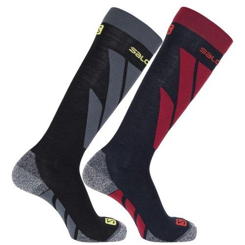 Salomon Men's S Access 2 Pack Ski Socks - Night Sky/Black