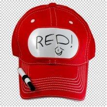 Billboard Red Cap With Pen