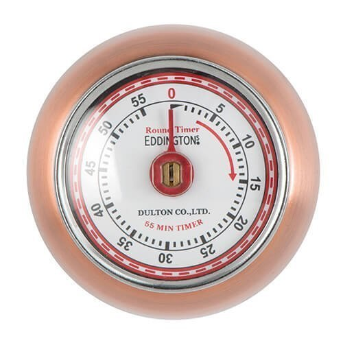 Eddingtons Magnetic Retro Timer Copper - Kitchen Baking Cooking Alarm -  timer eddingtons copper retro magnetic kitchen baking cooking alarm
