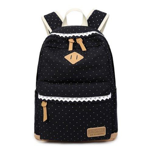 ff0e046e5858 Polka Dot Canvas Girls Backpack