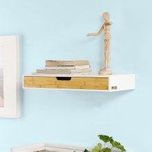 SoBuy FRG93-WN, Wall Drawer Floating Wall Shelf Storage Display Shelving