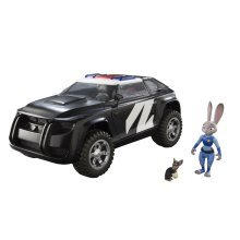 Tomy Zootropolis Police Cruiser Vehicle with Judy and Mouse Perp (Multi-Colour)