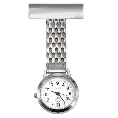 TRIXES Nurse Steel Fob Watch Silver