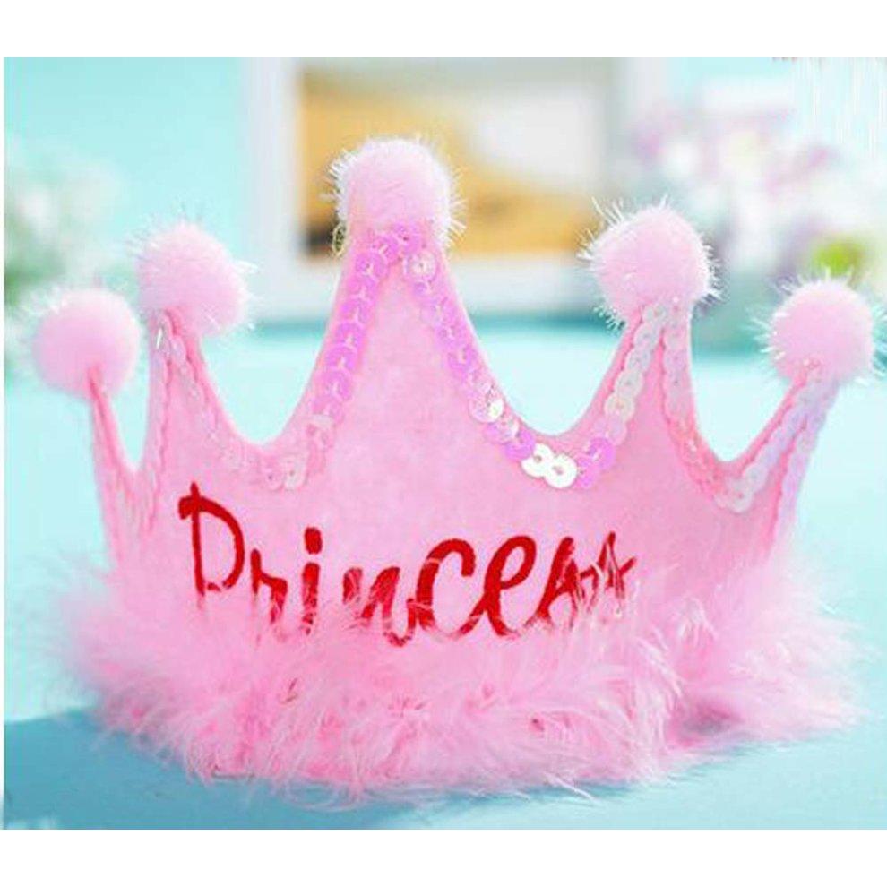Nice Looking Children S Birthday Party Supplies Princess Crown Hat Pink