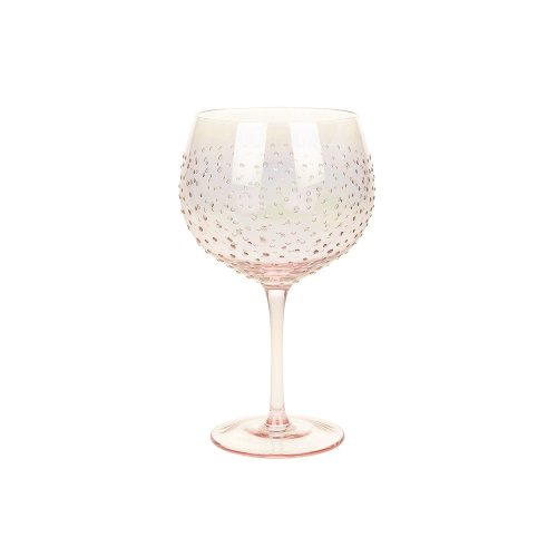 Sunny By Sue Hand Decorated Lge Gin & Tonic Glass - Rose Gold Lustre