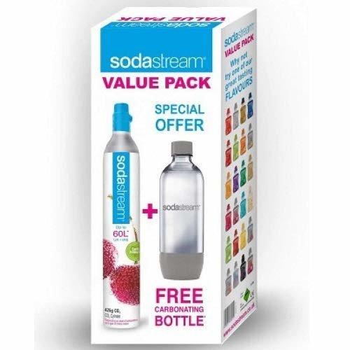 Sodastream Gas Cylinder + Spare 1 Litre Bottle