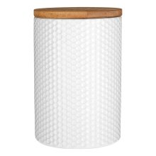 Geome Hex Canister - White