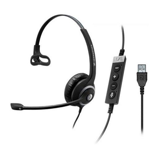 Sennheiser SC 230 MS II Monaural Head-band Black,Silver headset