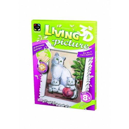 Elf956024 - Fantazer 3d Living Picture - Cat's Family