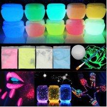 30g DIY Glow Luminous Fluorescent Pigment Face Body Paint Bright Party Decor