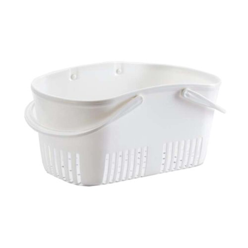 Bath Storage Basket Plastic Storage Basket with Handles #1