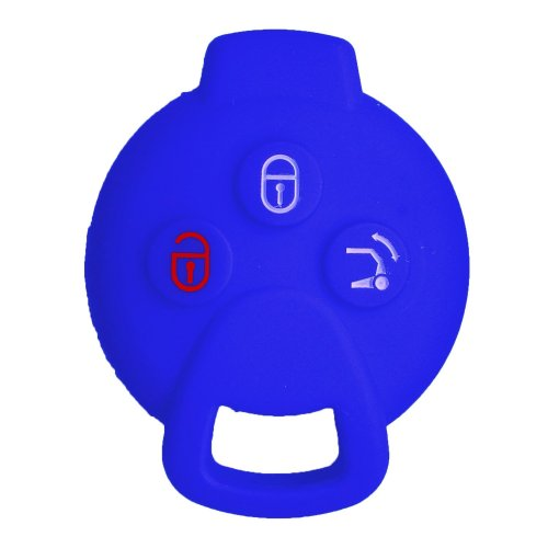 Nicky Blue Protective Cover for Benz Smart 3-Buttons Car Key Silicone Keys Protector