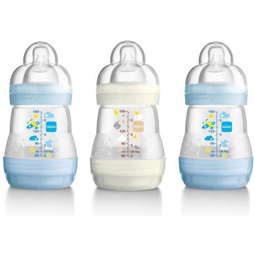 Mam Anti-colic 160ml Bottle - 3pk Boy