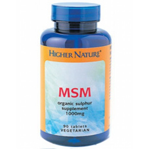 Higher Nature Msm Sulphur  180 Tablets