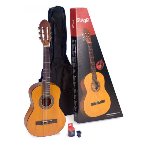 Stagg C430 3/4 Size Classical Guitar with Bag & Tuner, Natural