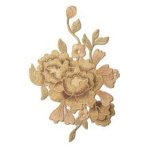 Embroidery Applique Gold Peony Applique Patches Cloth Appliques Sew on Patches