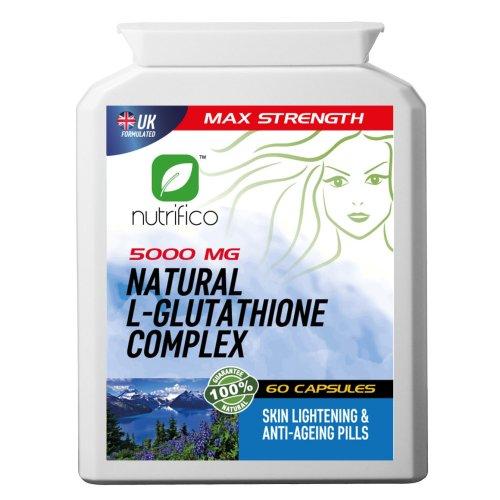Natural L-glutathione & Collagen Complex 5000mg High Strength Pills