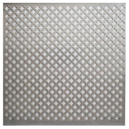 """Aluminum Metal Sheet 12""""X12""""-Cloverleaf"""