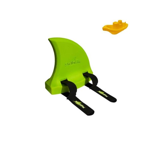 Kids Flotation Swimming Aid - Green Fin Design Including Tug Boat Toy Package