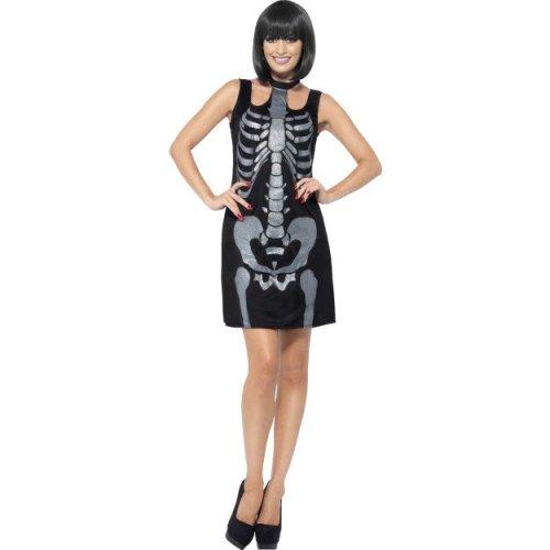 Skeleton Outfit Halloween.Medium Women S Skeleton Costume Dress Skeleton Costume Fancy Outfit Shift Ladies Halloween Bones Glitter