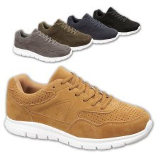 Mens Casual Sports Fashion Faux Suede Trainers