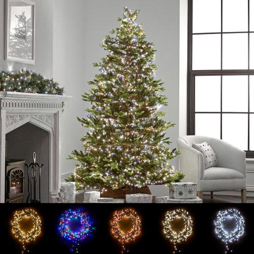 Winter Workshop LED 6-10ft Christmas Tree Cluster Lights Multi Function & Timer
