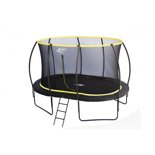 7 x 10ft Oval Telstar Orbit Trampoline And Enclosure With Free Ladder