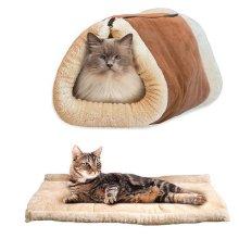 Cat Winter Warm Cave Rustling Sack Functional  Mat