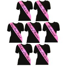Pink Hen Party Sashes