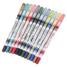 LaRoc 12 Pieces Colour Eye Liner Eyeliner Pencil Pen Cosmetic