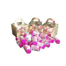 3 Boxes of Mini Love Hearts Filled Holographic Hearts Gold Cube Balloon Weight Favour Boxes