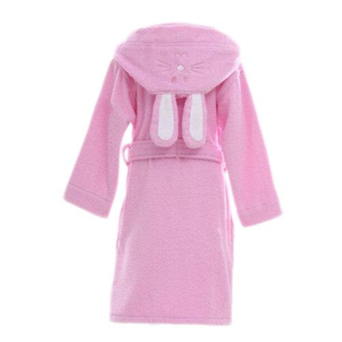 Children Cotton Bathrobe Soft Swim Bath Gown Robes Pajamas with Hat-A12