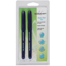 Manuscript Roller Ball Pen Twin Pack-Blue Ink