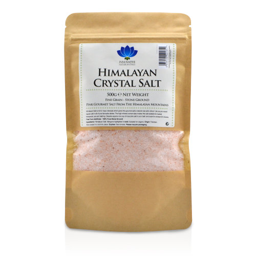 Innovative Naturopathics Himalayan Salt - Premium Stone Ground Fine Salt - 500g Packet