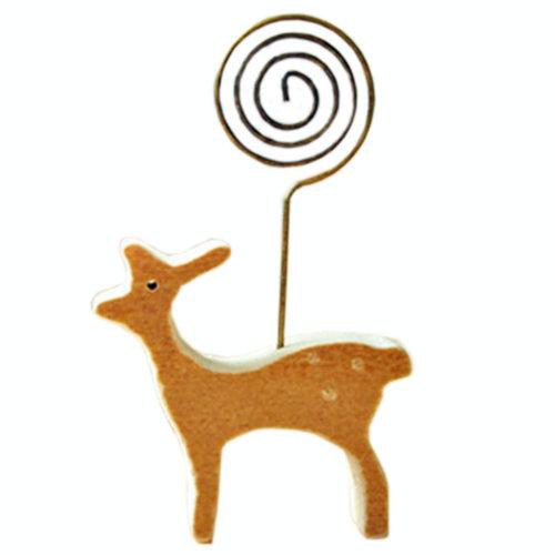 ZAKKA Cartoon Deer Memo Holder Wooden Memo Clips Message/Photo/Card Holder Clips