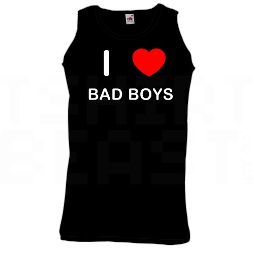 I Love Bad Boys - Quality Printed Cotton Gym Vest