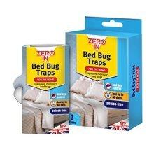 Pack Of 3 Poison Free Bed Bug Traps - Zero Killer Treatment Stv Home -  bed traps zero bug 3 pack killer treatment stv home