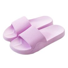 Womens Cozy Indoor Bathroom Non-slip Slippers House Slipper, Purple
