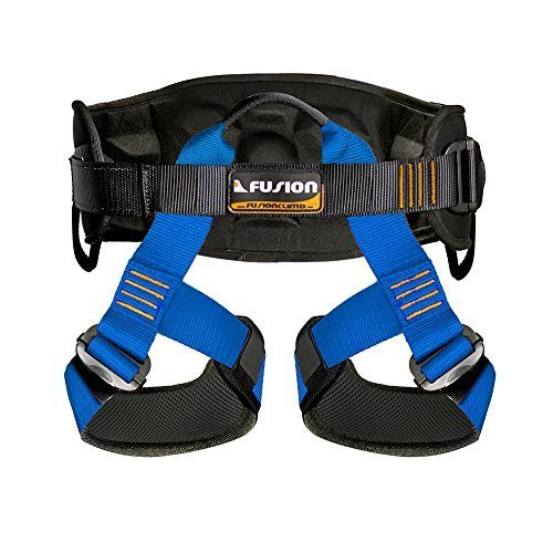 Fusion Climb Kratos Centaur Deluxe 3D Eva Foam Padded Half Body Harness Climbing Gym Rope Course M XL