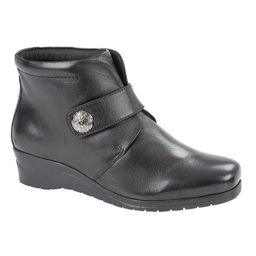 Mod Comfys Womens Wedge Boots Black